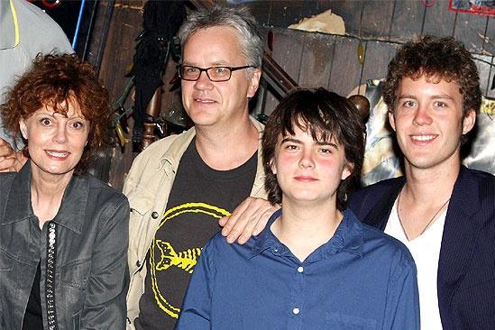 Susan Sarandon at Rock of Ages – Susan Sarandon – Tim Robbins – son miles – son jack