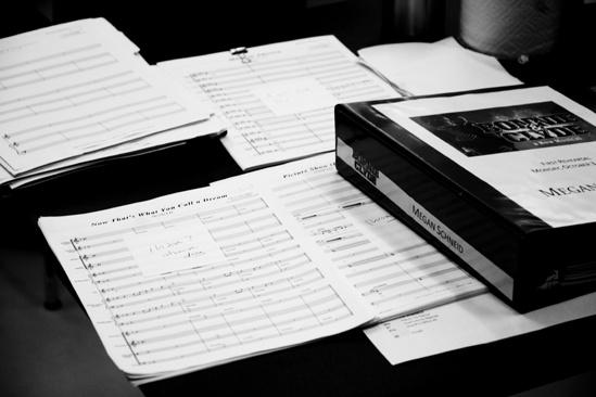 <i>Bonnie & Clyde</i> Rehearsal – score