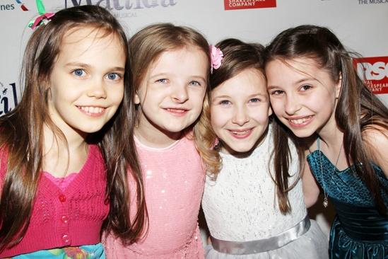 Matilda Opening Night Oona Laurence Milly Shapiro Sophia Gennusa Bailey Ryon