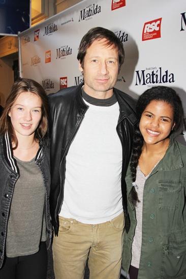 Matilda – Opening Night – Madelaine West Duchovny – David Duchovny – Friend