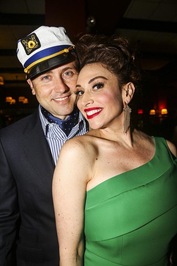 Dames at Sea - opening - 10/15 - Lesli Margherita and husband Daniel Ruben Stafford