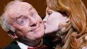 Jim Norton as Finian McLonergan and Kate Baldwin as Sharon in Finian's Rainbow.