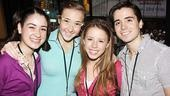 Let's hear it for the next generation of Broadway stars, represented by Bye Bye Birdie's Allison Strong, Julia Knitel, Allie Trimm and Matt Doyle.