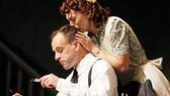 Jonny Lee Miller as Johnand Marin Ireland as Christine in After Miss Julie.