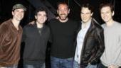 Trey Parker at Jersey Boys – Dominic Nolfi – Jarrod Spector – Trey Parker – Matt Bogart – Sebastian Arcelus