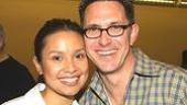 Lea Salonga with director/choreographer Robert Longbottom.