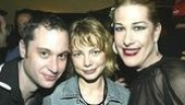 Fan Michelle Williams (center) with Mellman and Bond.