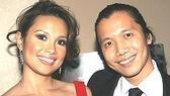 Lea Salonga and friend Victor Lirio, who is producing director of the Diverse City Theatre Company.