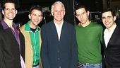 Steve Martin at Jersey Boys - J. Robert Spencer - Daniel Reichard - Steve Martin - Christian Hoff - John Lloyd Young