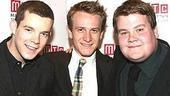 Let's hear it for the History Boys! Here, Russell Tovey, Jamie Parker and James Corden are all smiles.