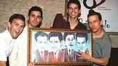 Photo Op - Jersey Boys Portrait Unveiling -  Daniel Reichard - John Lloyd Young - J. Robert Spencer - Christian Hoff (getting funky)