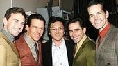 Photo Op - Masi Oka at Jersey Boys - Daniel Reichard - Christian Hoff - Masi Oka - John Lloyd Young - J. Robert Spencer