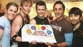 Altar Boyz Second Anniversary - Zach Hanna - Landon Beard - Kyle Dean Massey - Eric Schneider - Shaun Taylor-Corbett (with cake)