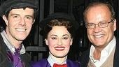 Poppins' Bert (Gavin Lee) and Mary (Ashley Brown) with their latest celeb guest, Kelsey Grammer.