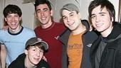 Photo Op - Max Crumm at Spring Awakening - John Gallagher Jr. - Max Crumm - Skylar Astin - Matt Doyle - Gerard Canonico