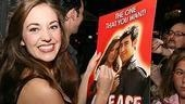 Photo Op - First Preview of Grease - Laura Osnes (signs poster)