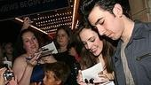 Photo Op - First Preview of Grease - Laura Osnes - Max Crumm (signing)