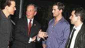 Photo Op - Mayor Bloomberg at Jersey Boys - Christian Hoff - Michael Bloomberg - Daniel Reichard - John Lloyd Young