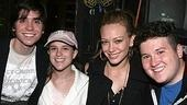 Spring players Matt Doyle, Alexandra Socha and Brian Charles Johnson with the Lizzie McGuire star.