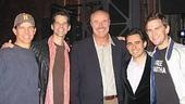 Photo Op - Dr. Phil at Jersey Boys - Christian Hoff - J. Robert Spencer - Dr. Phil McGraw - John Lloyd Young - Daniel Reichard