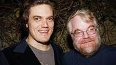 The director with one of the stars of Little Flower, Michael Shannon, who plays Danny.