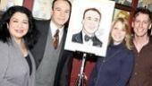 Danny Burstein Honored at Sardi's – Loretta Ables Sayre – Kelli O'Hara – Danny Burstein - Andrew Samonsky