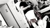 Elizabeth Ashley backstage at August: Osage County – dressing room