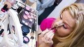 Megan Hilty backstage – eye makeup