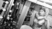 Megan Hilty backstage – getting dressed