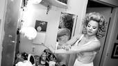 Megan Hilty backstage – lotion