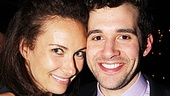 Laura Benanti is happy to toast Adam Chanler-Berat at his big opening night bash!