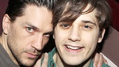 Will Swenson and Andy Mientus get silly at the press event.