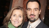 NBC News correspondent Meredith Vieira greets Ramin Karimloo after the show.