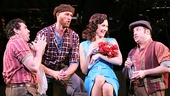 Bradley Dean as Giuseppe, Zachary James as Pasquale, Laura Benanti as Rosabella & Brian Cali as Ciccio in The Most Happy Fella