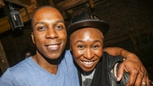 Hamilton - backstage - 9/15 - Leslie Odom Jr and Cynthia Erivo