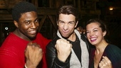 Hamilton - backstage - 9/15 - Okieriete Onaodowan, Andy Karl and Margo Seibert