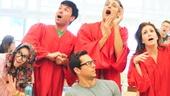 'First Date' Rehearsal — Sara Chase — Kristoffer Cusick — Zachary Levi — Bryce Ryness — Kate Loprest — Blake Hammond