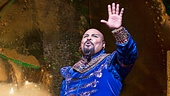 James Monroe Iglehart as the Genie in Aladdin. Photo by Cylla von Tiedemann