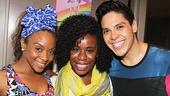 Here Lies Love - Backstage - OP - 7/14 - Uzo Aduba - Angela Polk - George Salazar