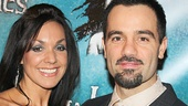 Ramin Karimloo and his proud wife Amanda strike a pose on the red carpet.