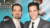 Les Miz stars Ramin Karimloo and Will Swenson take a parting shot.