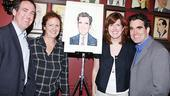 Brian d'Arcy James at Sardi's – Andrew James - Colleen Kelly - Kate James