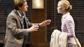 Oleanna - Show Photos - Bill Pullman - Julia Stiles (arms up)