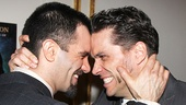 We did it! Ramin Karimloo and Will Swenson share a sweet moment after the show.