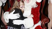 Make-A-Wish Foundation at The Radio City Christmas Show - girl - Santa Claus