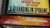 Behanding in Spokane Opening Night – marquee