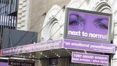 Bill and Hillary Clinton at Next to Normal – marquee