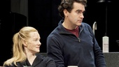 Laura Linney as Sarah, Brian d'Arcy James as James and Eric Bogosian as Richard in Time Stands Still.