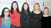 Feb 2010 Love Loss cast – Janeane Garofalo – June Diane Raphael – Joanna Gleason – Caroline Rhea – Carol Kane