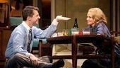 Sean Hayes as Chuck Baxter and Kristin Chenoweth as Fran Kubelik in Promises, Promises.